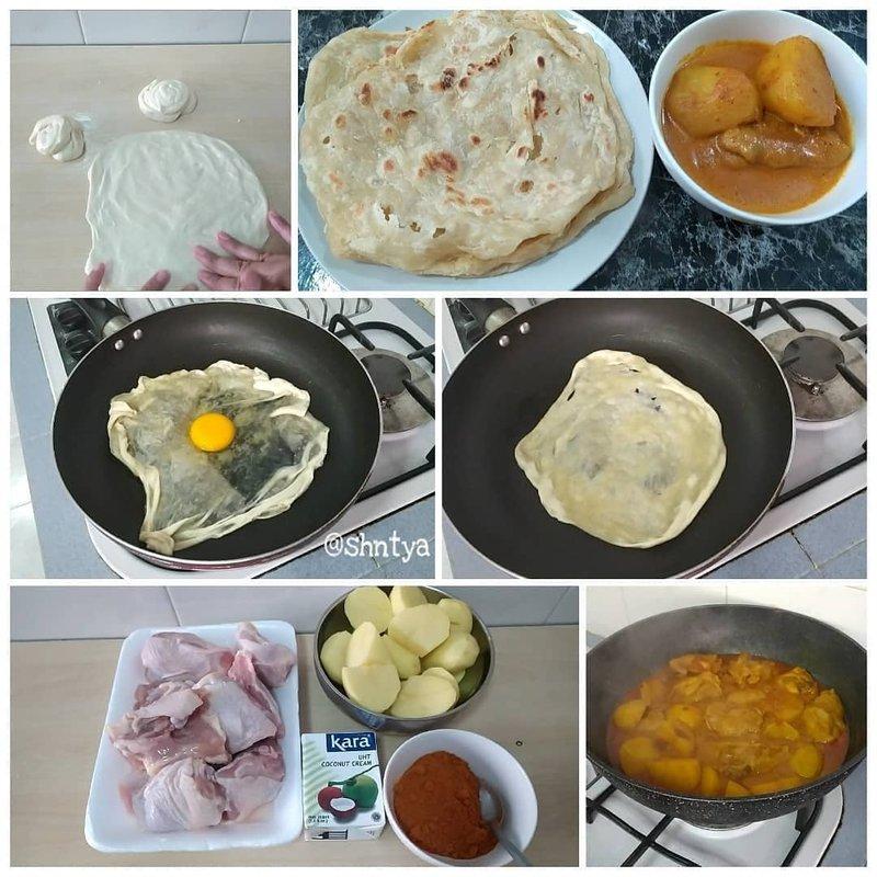 Roti Canai Kari Ayam