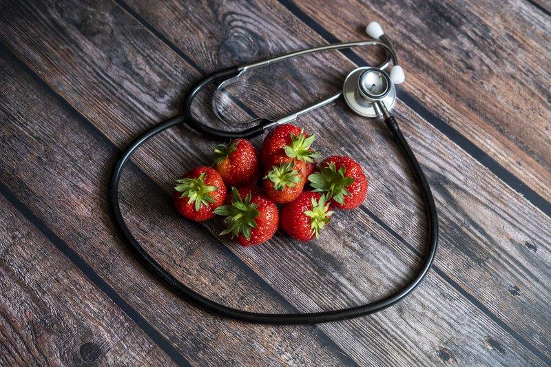 Serat dalam buah strawberry baik untuk kesehatan