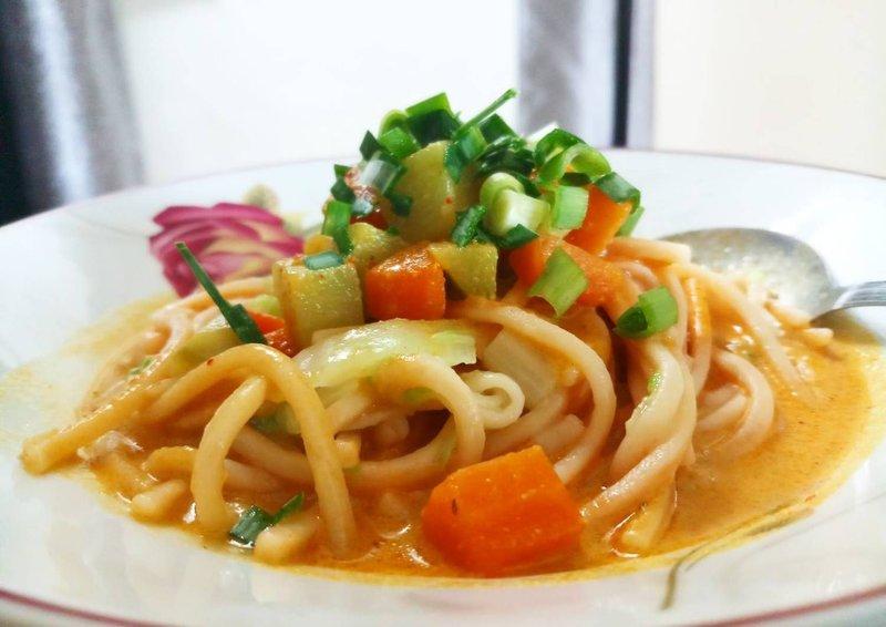makanan khas medan Mie Gomak
