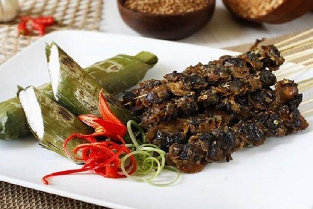 makanan khas sulawesi sate gogos