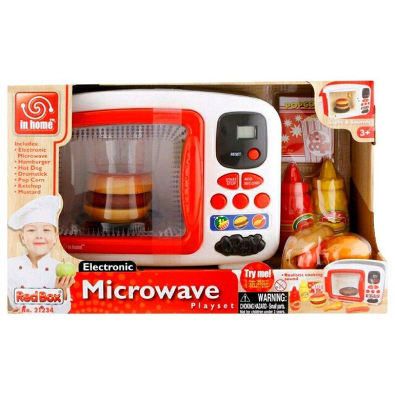 2 redbox electronic microwave playset