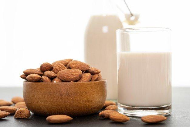 cara membuat susu almond tanpa direndam