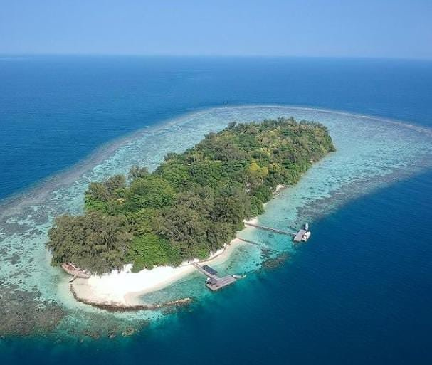 cara mengunjungi pulau semak daun