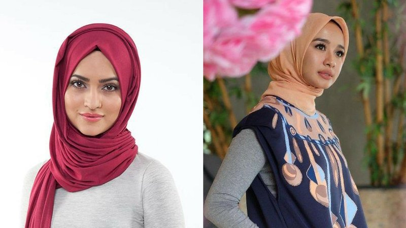4 tips memakai hijab sesuai bentuk wajah 1