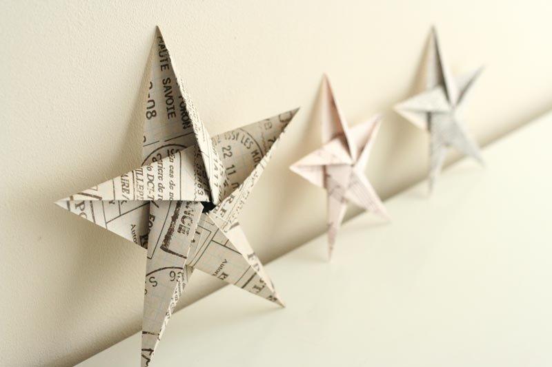 Origami bintang runcing