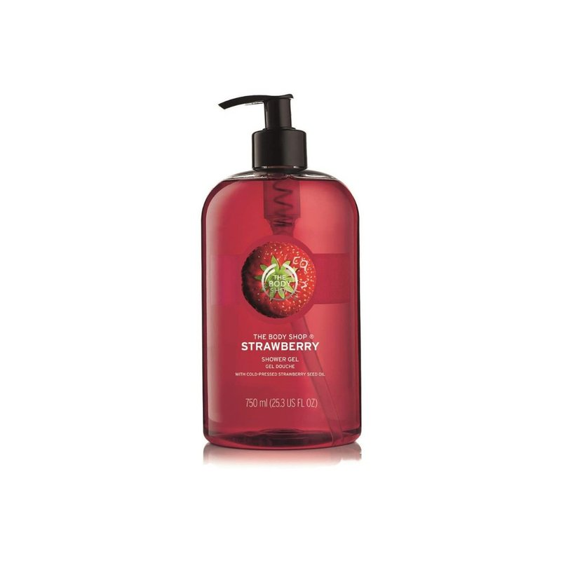 review the body shop strawberry shower gel