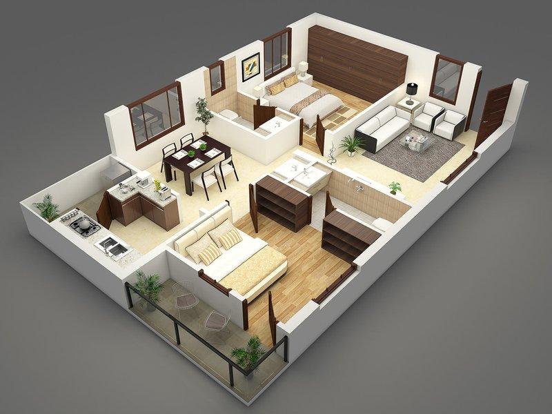 Rumah minimalis teras kecil