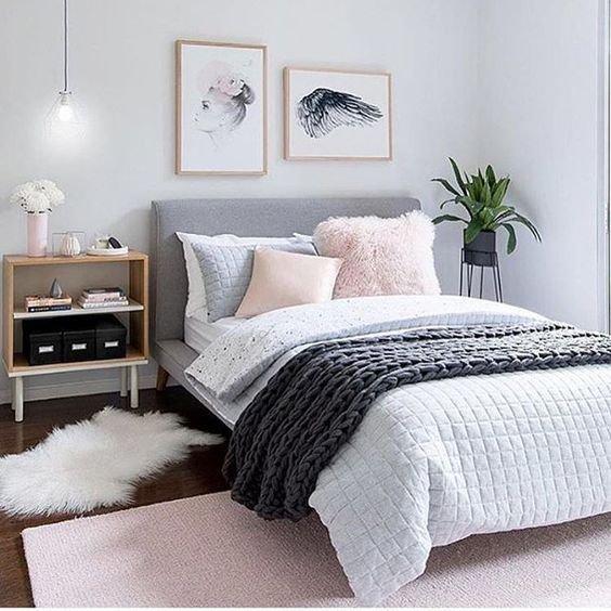 Kamar minimalis remaja scandinavian