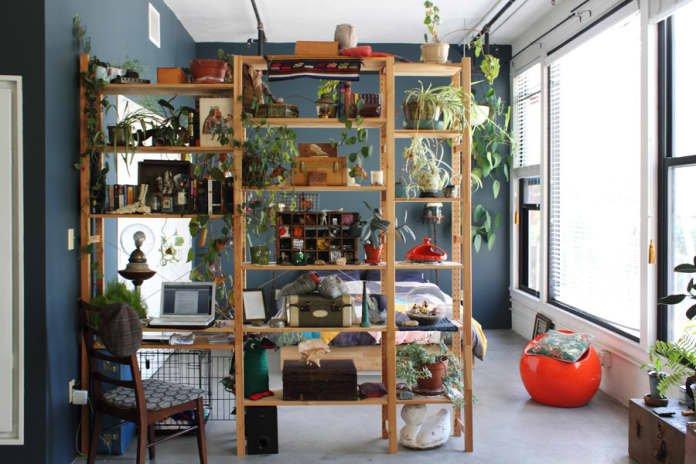 sekat ruang tamu tanaman