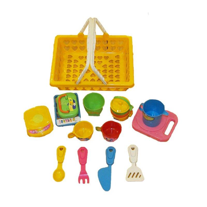 7 ocean toy dapur keranjang gagang