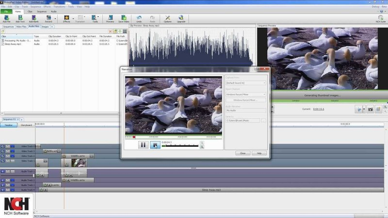 aplikasi edit video NCH Video Pad