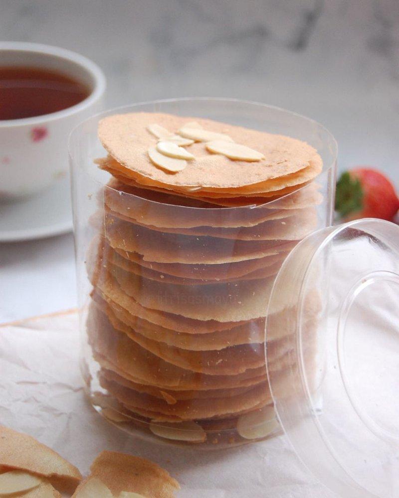 resep almond crispy