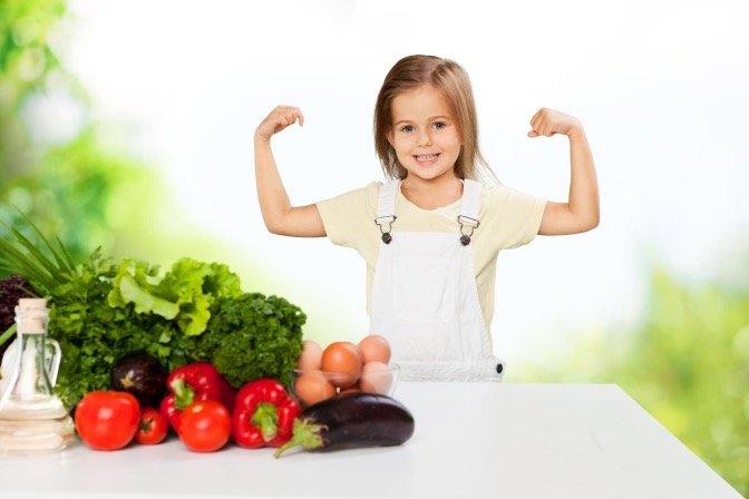 anak jadi vegetarian