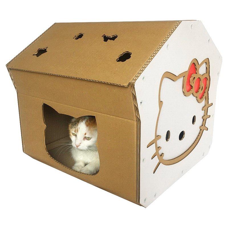 Cara Membuat Rumah Kucing dari Kardus Bekas bentuk Hello Kitty.jpg