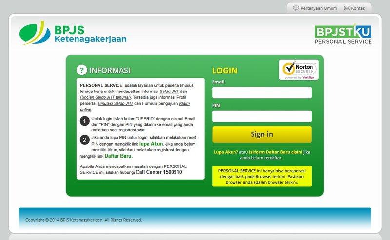 Cek Status BPJS Ketenagakerjaan di Website