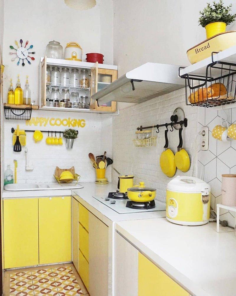 Dapur Minimalis Kuning