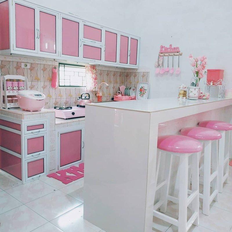 Dapur Minimalis Pink