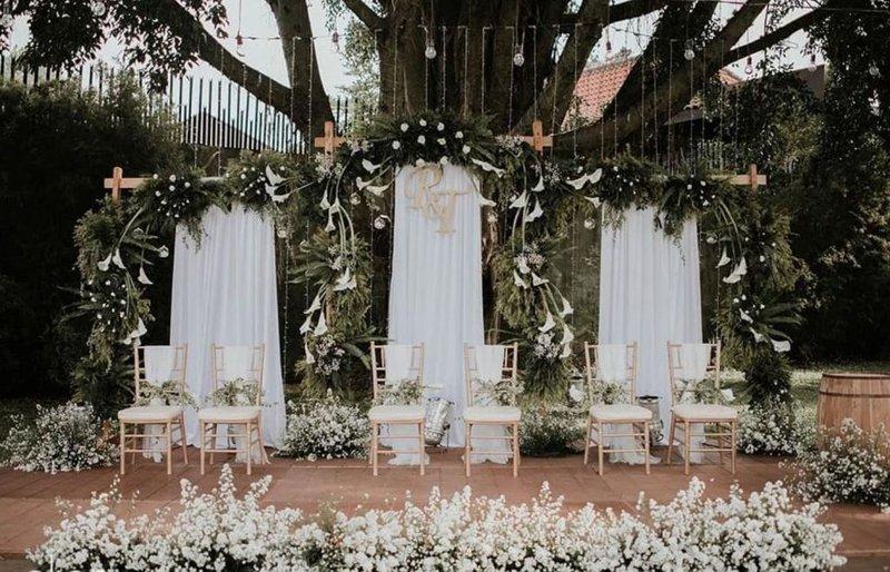Dekorasi Pernikahan Simpel Garden Party
