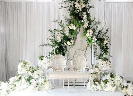 Dekorasi Pernikahan Simpel Tema Putih