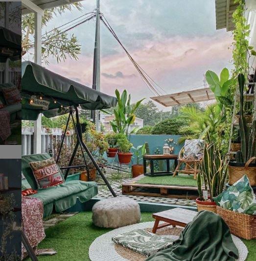 Desain Teras Rumah Minimalis Ala Tempat Piknik