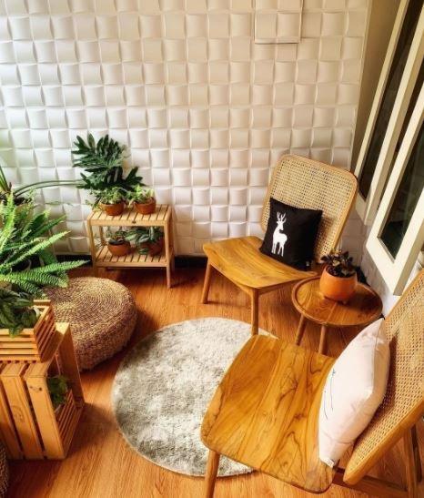 Desain Teras Rumah Minimalis Bertema Natural