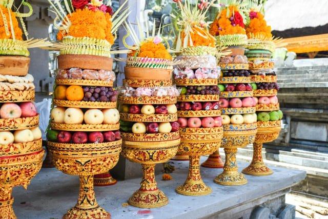 Gebogan Dekorasi Pernikahan Bali