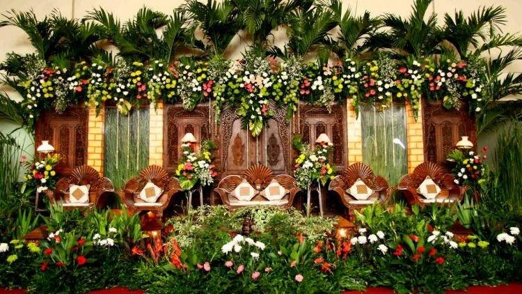 Gebyokan pada Dekorasi Pernikahan Jawa