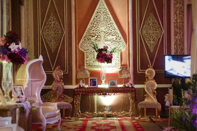 Gunungan Wayang Dekorasi Pernikahan Jawa