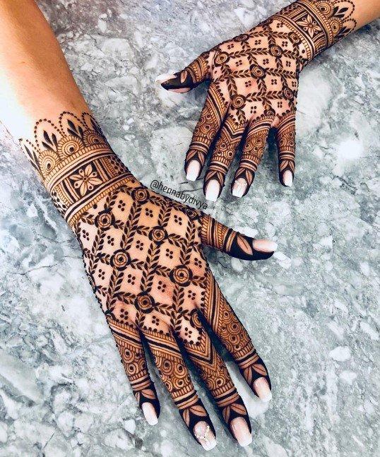 Desain Henna Mawar