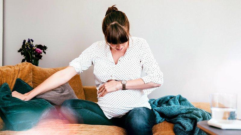 Ilustrasi kontraksi rahim