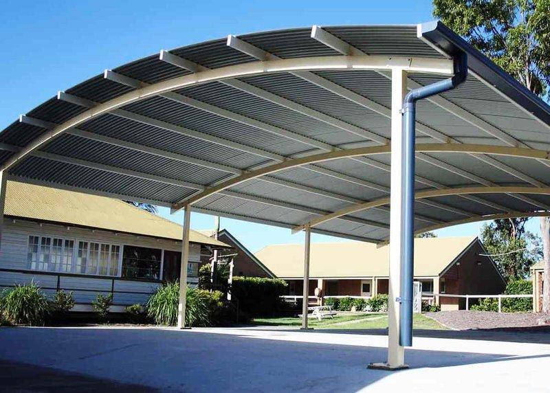 Jenis atap kanopi Spandek Zincalume