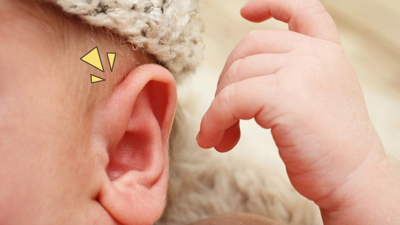 benjolan di belakang telinga bayi