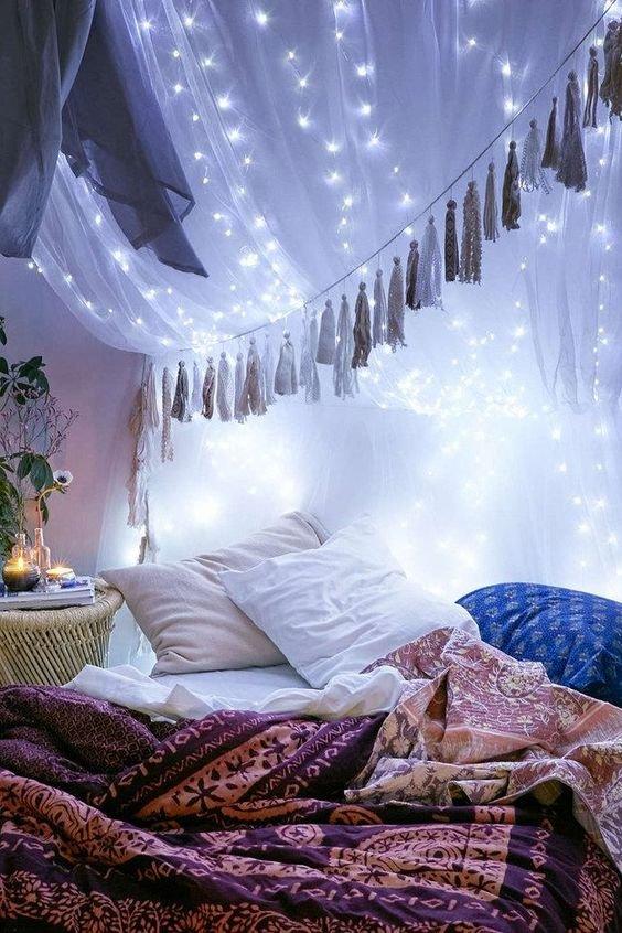 Lampu Tumblr dengan Kelambu