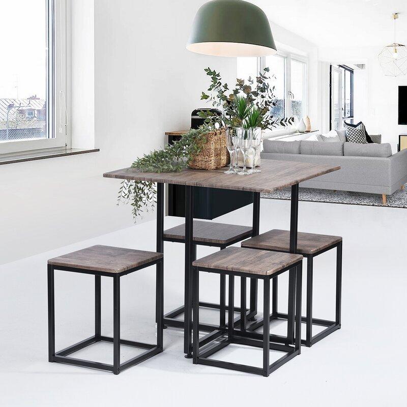 Meja makan minimalis urban