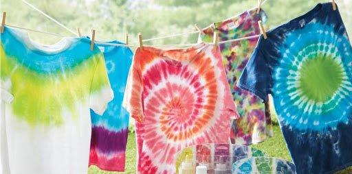 Membuat Baju Tie-Dye dari Baju Bekas