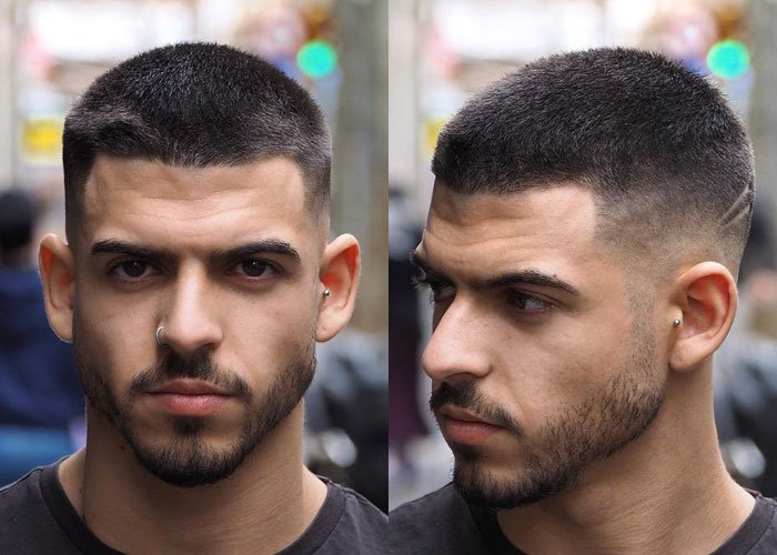Model Bald Taper Fade