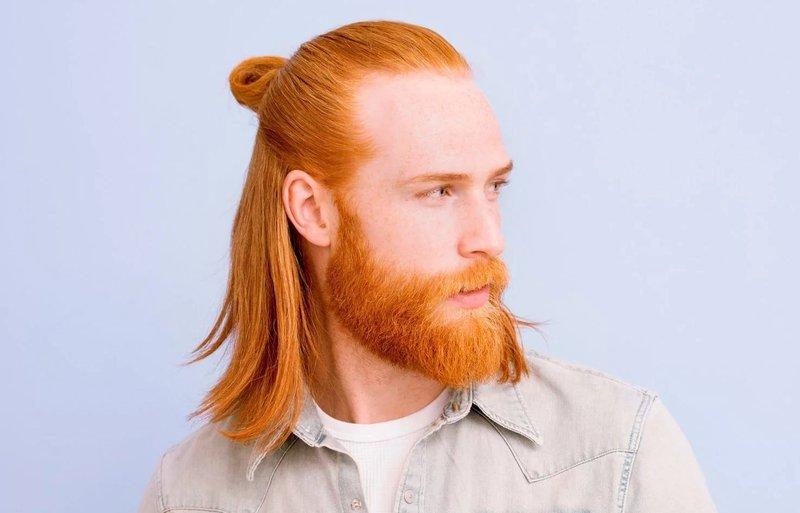 Model Rambut Pria Half Up