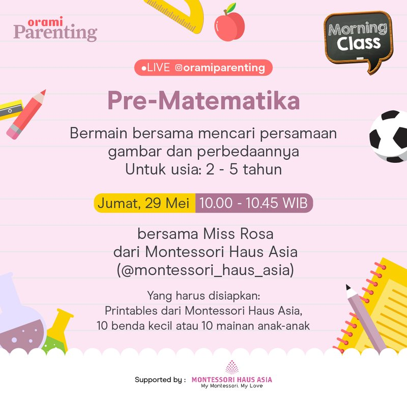 Orami Parenting Morning Class