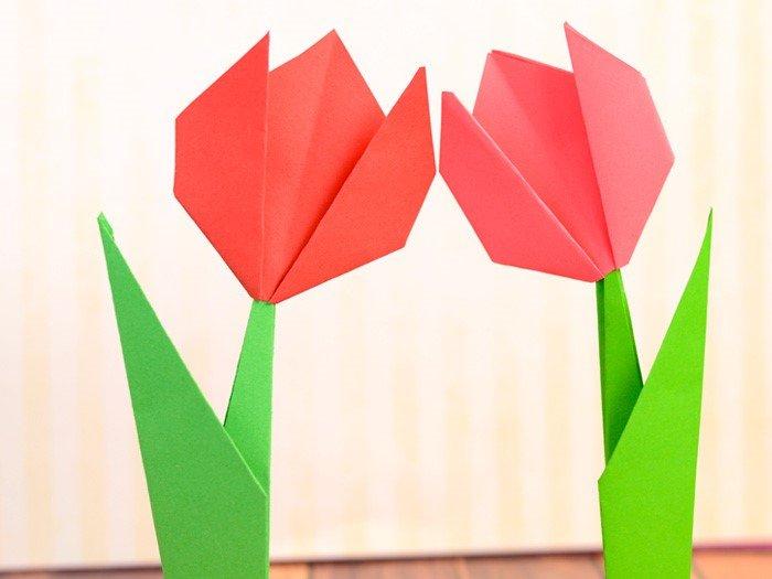 Origami bunga tulip