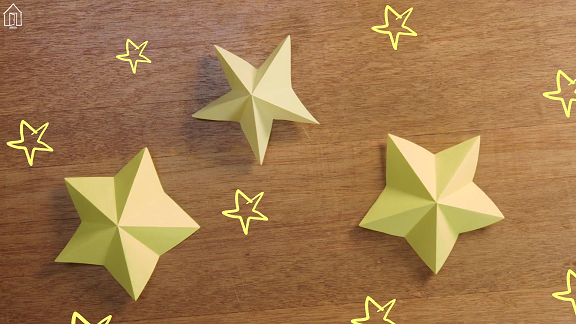 Origami bintang sederhana