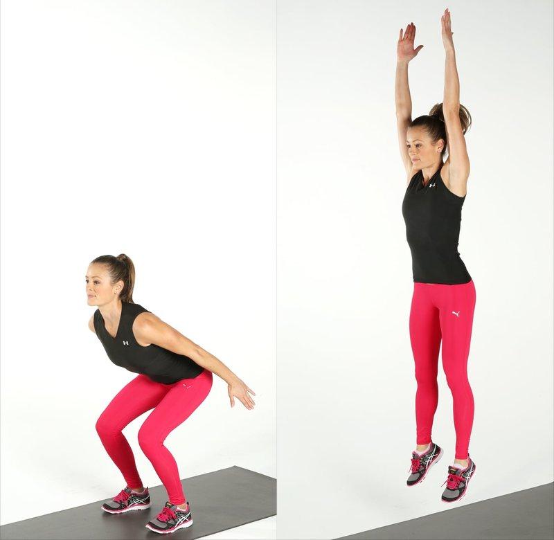 cara melakukan squat jump