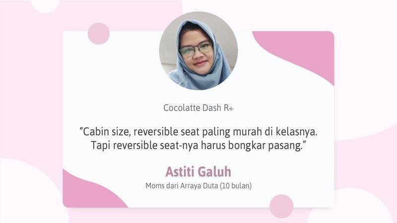 Review Jujur Stroller Cocolatte Dash R Plus dari Moms Orami