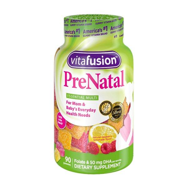 Vitafusion Prenatal memberikan vitamin dalam bentuk gummy yang manis