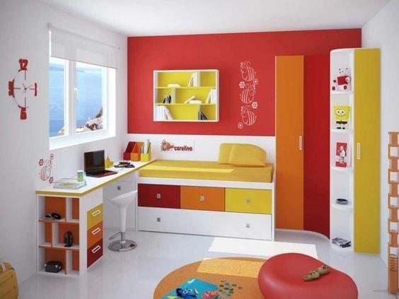 Warna Cat Kamar Anak Perempuan - Merah