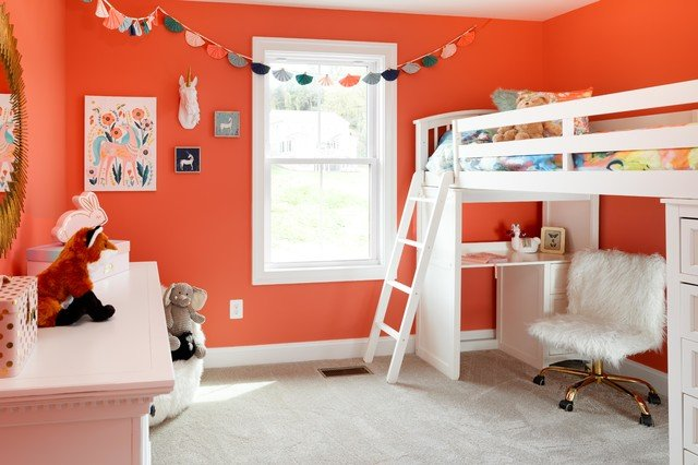 Warna Cat Kamar Anak Perempuan - Oranye
