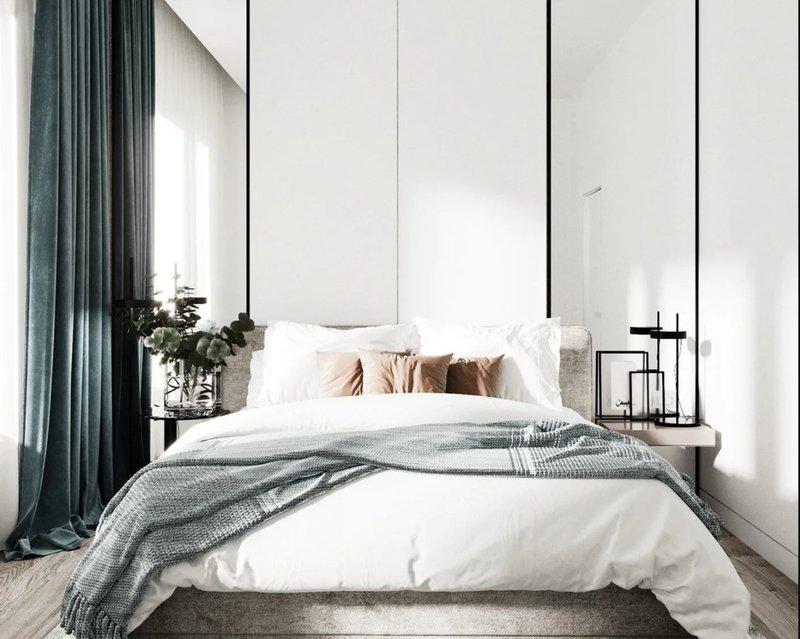 Kamar minimalis dengan cermin