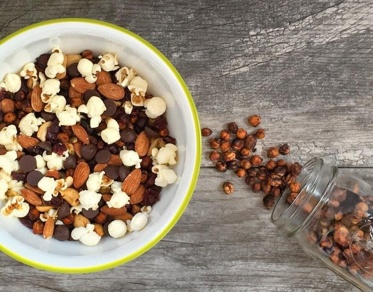 after school snack trail mix bowl