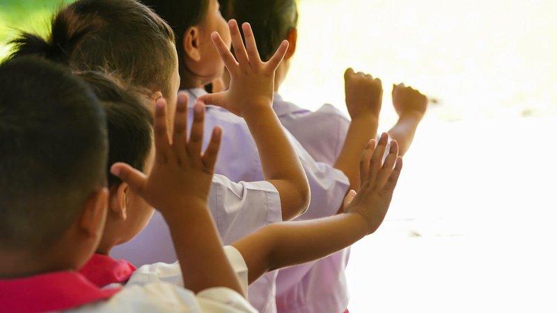 anak baris berbaris