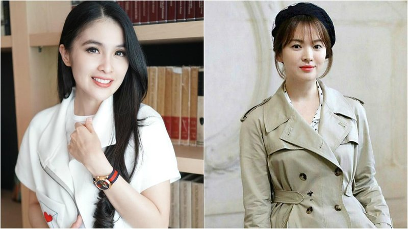 artis korea kembar sandra dewi