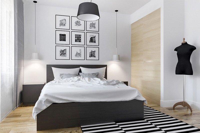 Kamar minimalis monochrome